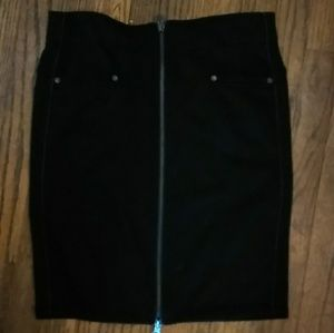Candie,'s Zipper Front Black Mini Skirt Sz 3 New